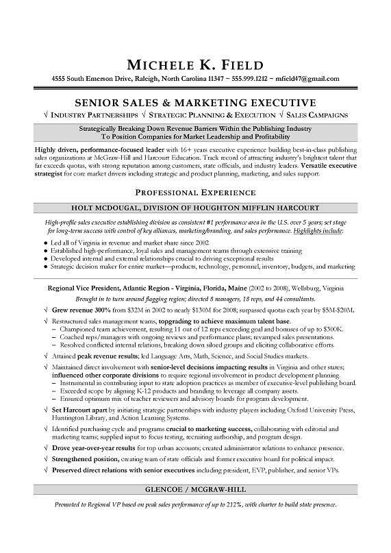 Regional VP Sales Sample Resume - Executive resume writing - Sales ...