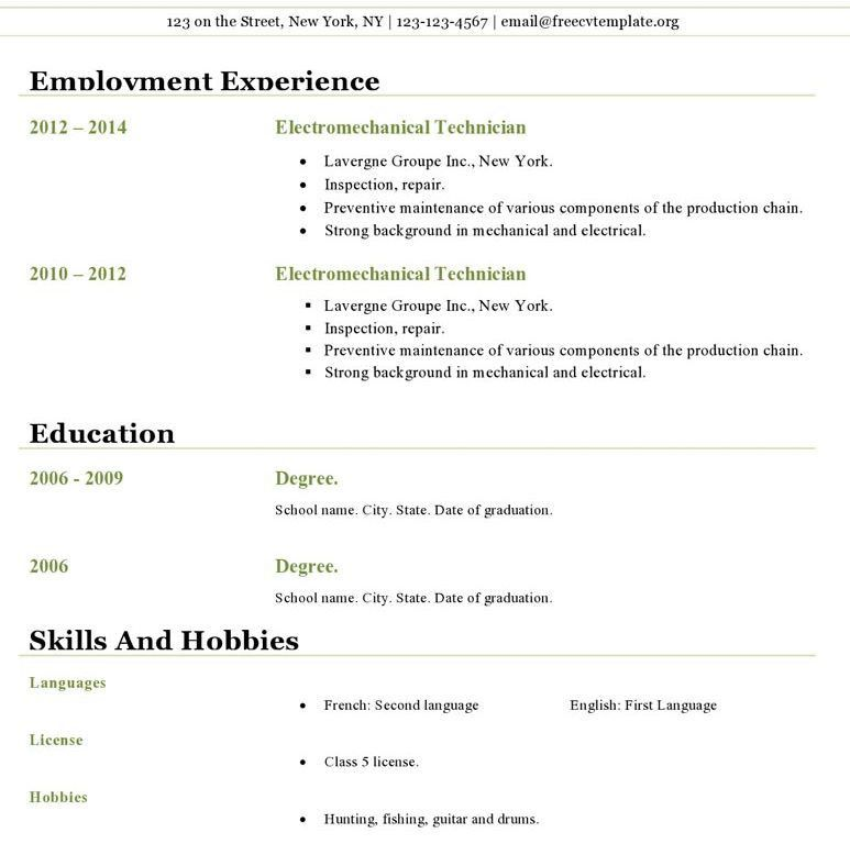open office resume templates free download free resume templates