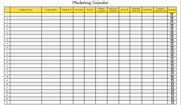 Download This Free Marketing Calendar Template