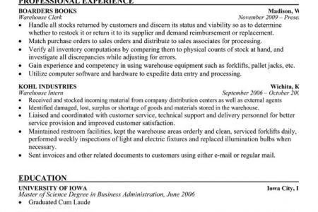 Shipping Receiving Clerk Resume Sample, Manager Resume Template ...