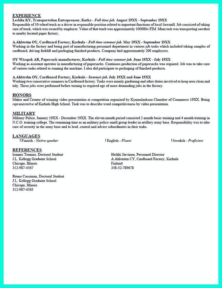 Current College Student Resume Example New Trends In Resume ...