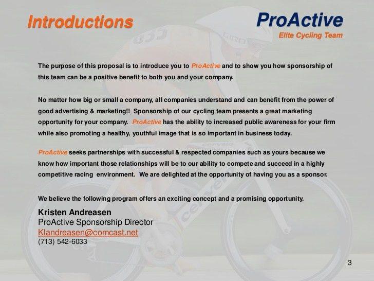 2012 Pro Active Sponsorship Proposal