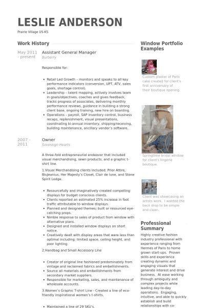 Assistant General Manager Resume samples - VisualCV resume samples ...