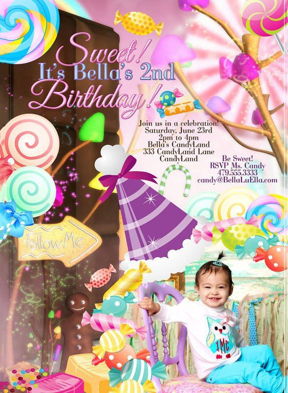 13+ Wonderful Candyland Invitation Templates | Free & Premium ...