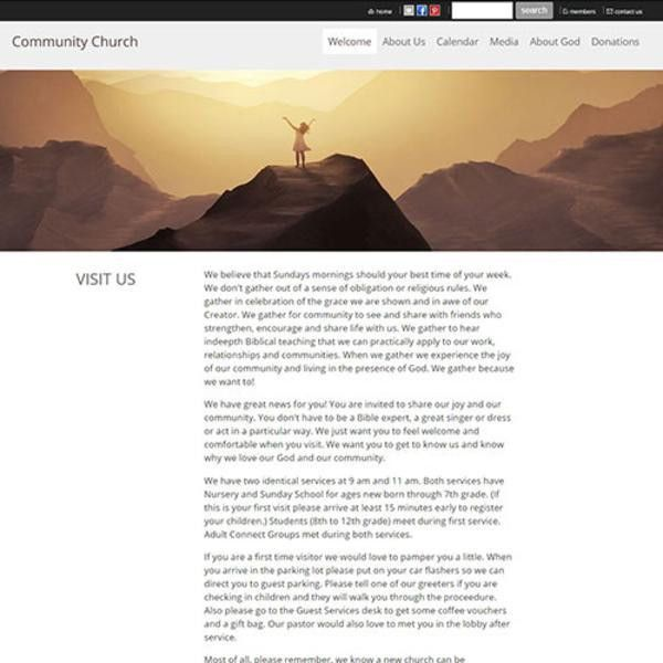 Free Trial - Church Website Templates: Church Web Design | Church ...