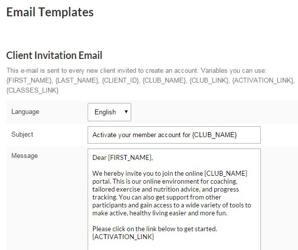 Business Settings | Client Invitation Email Template – Welcome to ...