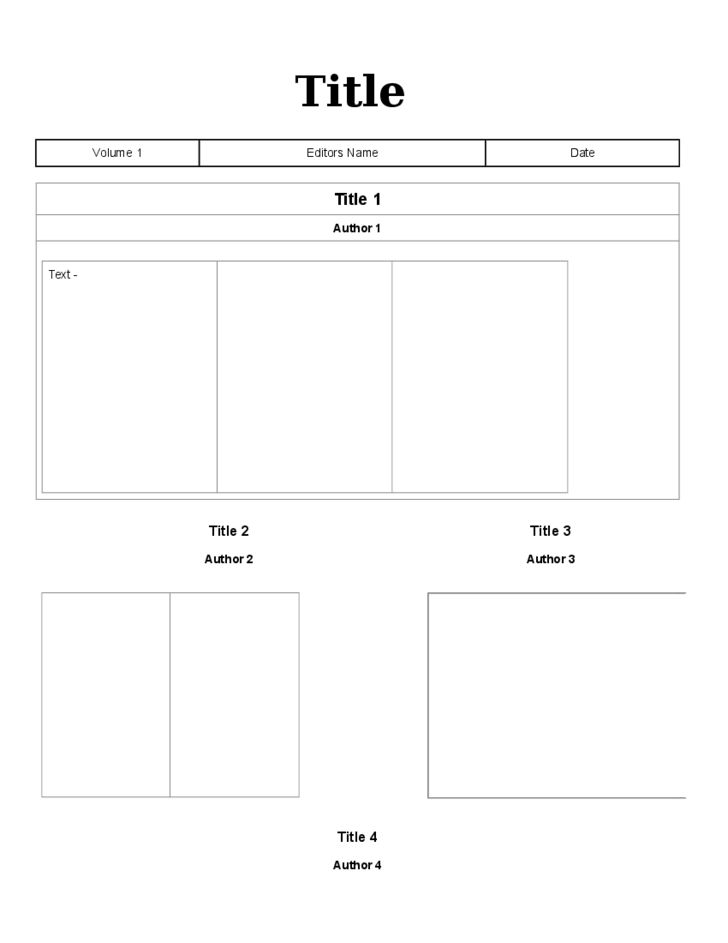 Blank Newspaper Template Free Download
