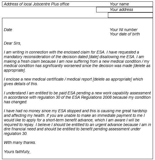 Ask CPAG Online - What can you claim pending a MR of an ESA ...