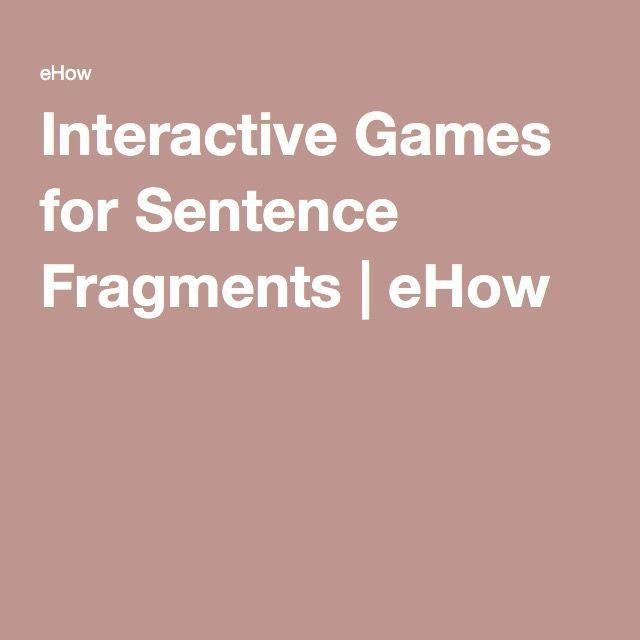 Best 20+ Sentence fragments ideas on Pinterest | Sentences ...