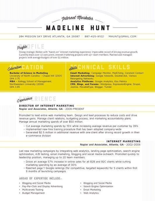 80 best Cv Infografico Schematici images on Pinterest   Resume ...