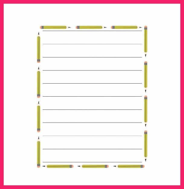 Template Lined Paper. lined paper pdf printable kindergarten lined ...