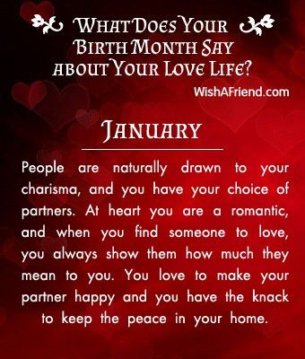What does your Birth Month say about your Love Life? - Born in January
