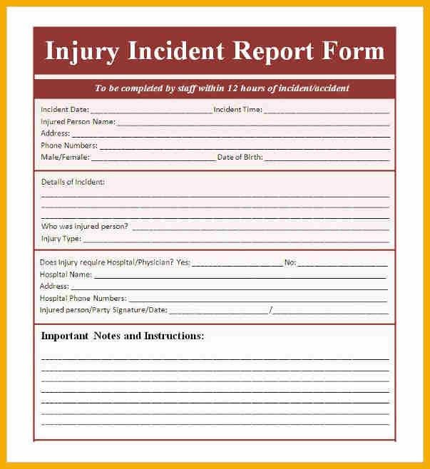 Accident Incident Report. Ic-Accident-Incident-Report-Form Jpg ...