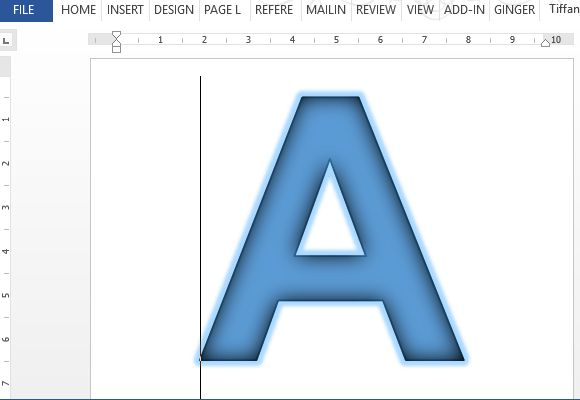 Banner Letters & Numbers Template For Word