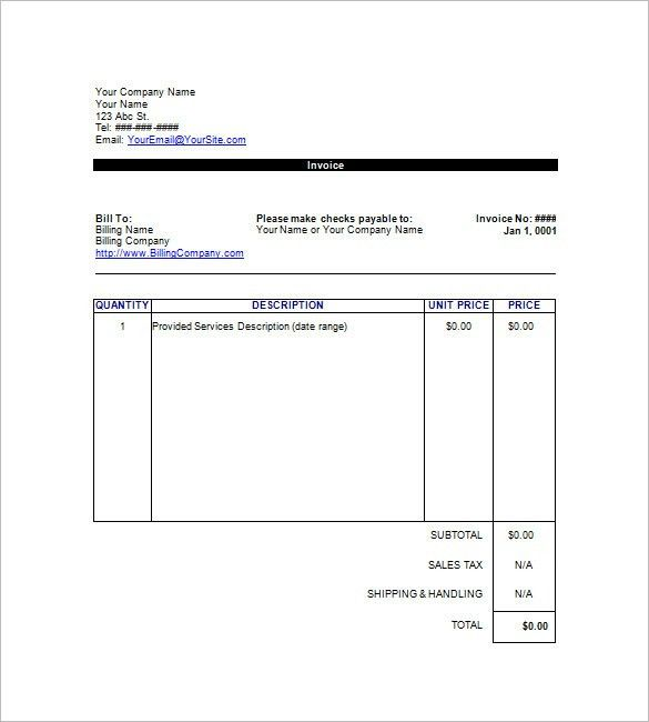 Google Invoice Template – 8+ Free Sample, Example, Format Download ...