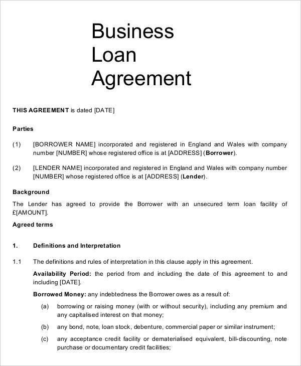 9+ Business Agreement Templates - Samples, Examples Format ...