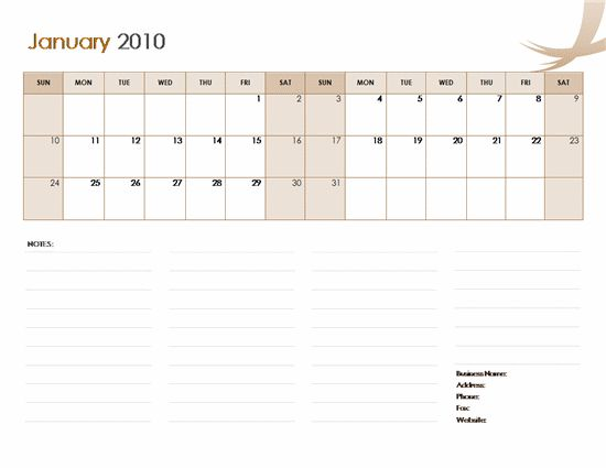 Calendars | Ready-Made Office Templates