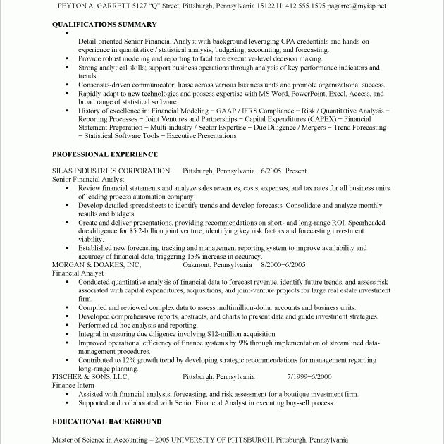 Fiscal Analyst Cover Letter