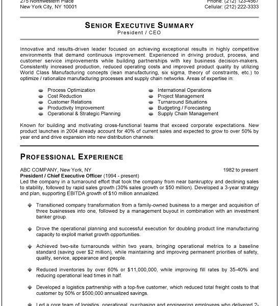 Nice Inspiration Ideas Executive Resume Template 10 The 25 Best ...