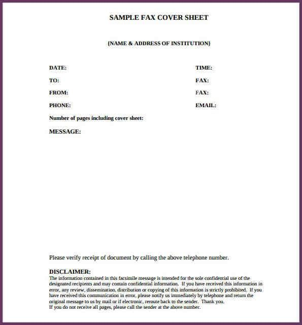 Confidential Fax Cover Sheets  BesikEightyCo