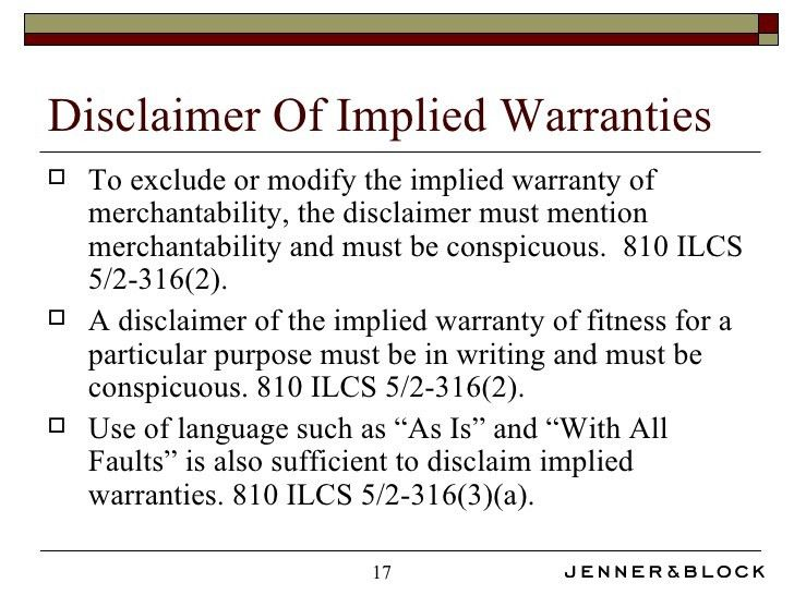 UCC Breach of Warranty
