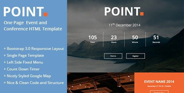 Point : One Page Event and Conference Template by theweblab ...