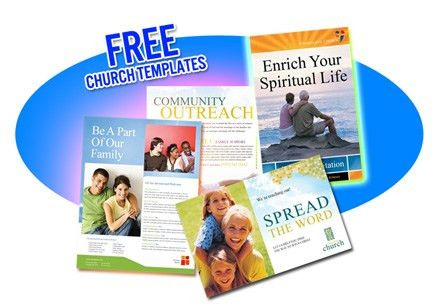 FREE Church Flyer and Postcard Templates