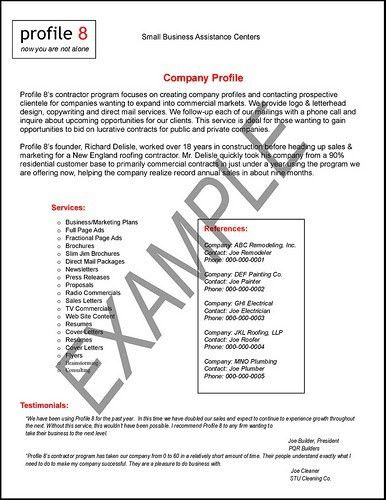 İos: COMPANY PROFILE SAMPLE
