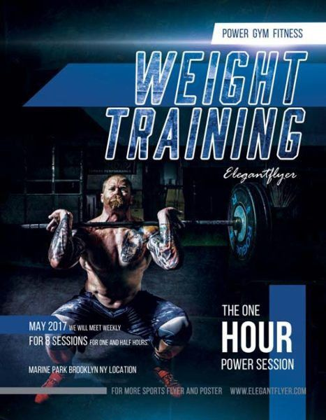 Weight Training Free Fitness Flyer Template - Download Free Flyer