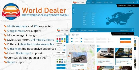 Car Dealer Classified Directory Template by sanljiljan | ThemeForest