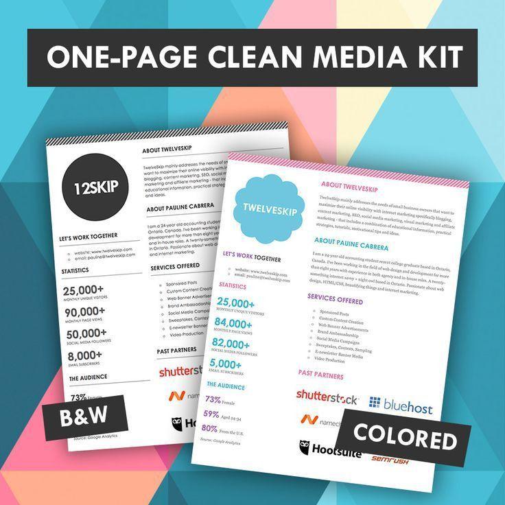 32 best Media Kit Design Examples images on Pinterest | Blog tips ...