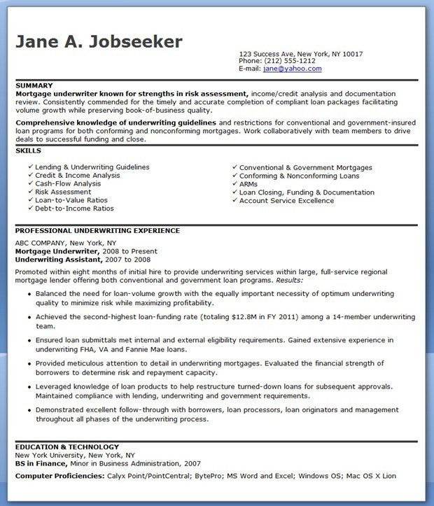 sample mortgage underwriter cover letter underwriter cover letter