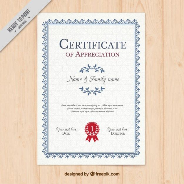 Vertical Certificate Template Vector | Free Download