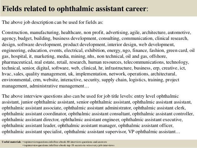 Top 10 ophthalmic assistant interview questions and answers