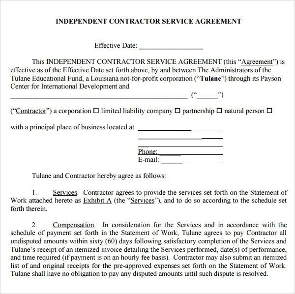 Service Agreement Template | ebook