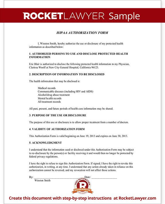 Beautiful Hipaa Authorization Form Pictures - Best Resume Examples ...