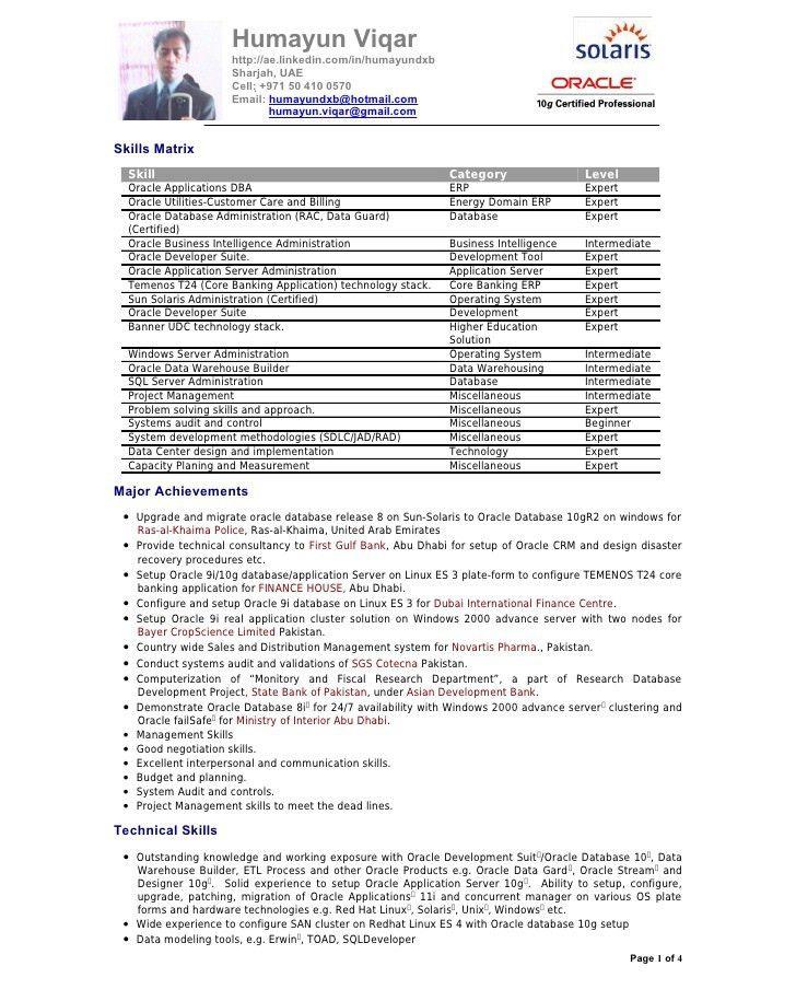 sample dba resume resume cv cover letter. oracle dba fresher ...