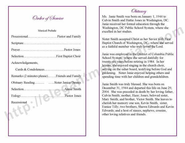 obituary templates Archives - Funeral Programs Blog