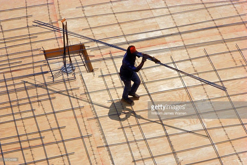 Construction Worker With Rebar Stock Photo | Getty Images