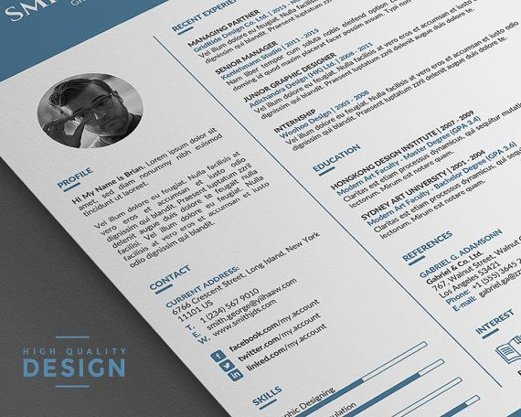 102 best Unique and Clean Resume Template images on Pinterest ...
