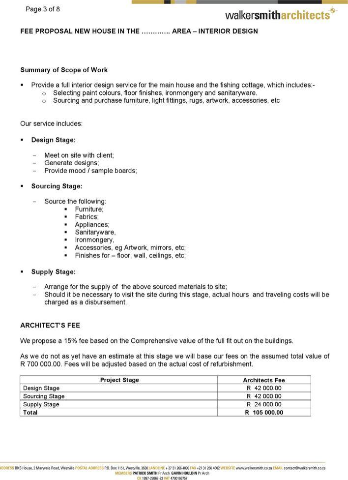 interior design fee interior design proposal template sample interior design proposal stunning. Black Bedroom Furniture Sets. Home Design Ideas