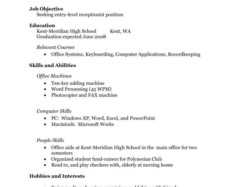 Resume Examples With No Work Experience. Cover Letter College ...