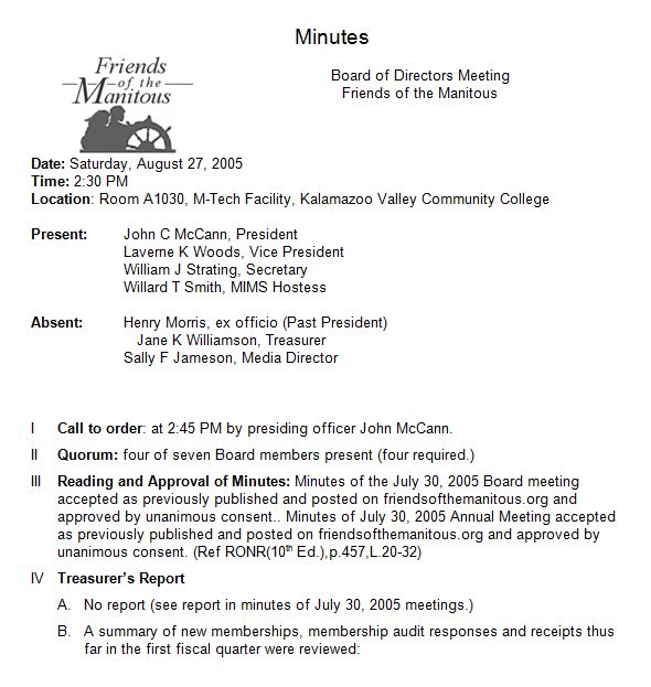 Annual Meeting Minutes Template. sample meeting minutes 9 examples ...