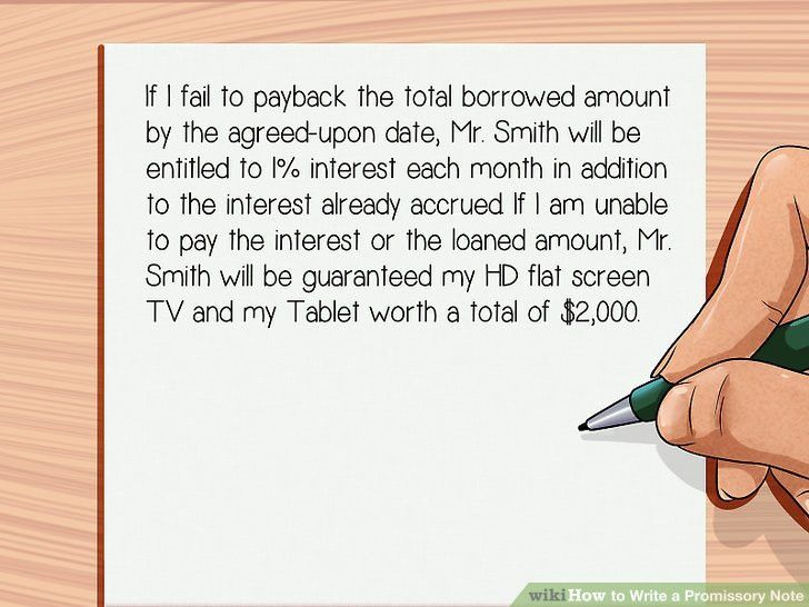 How to Write a Promissory Note: 11 Steps (with Pictures) - wikiHow