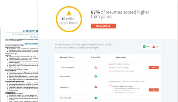 Resume Check | Free Resume Review | LiveCareer
