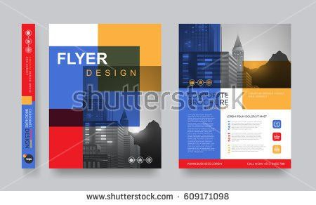 Poster Flyer Pamphlet Brochure Cover Design Stock Vector 558505024 ...