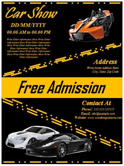 Car Show Flyer Design | Flyer Designs & Templates