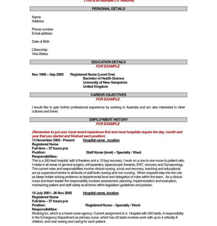 Stylish Inspiration Nursing Objective For Resume 8 25 Best Sample ...