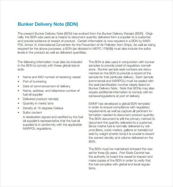 9+ Delivery Note Templates – Free Sample, Example, Format Download ...