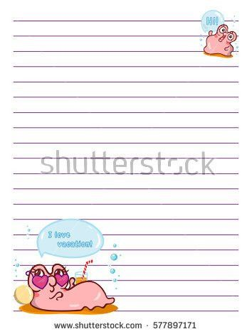 Vector Printing Paper Note Cute Paper Stock Vector 543803737 ...